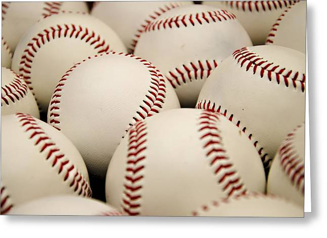 Baseball Art Print Greeting Cards - Baseballs II Greeting Card by Ricky Barnard