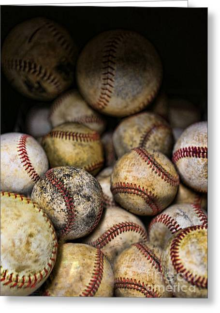 Rawlings Greeting Cards - Baseballs  Greeting Card by Lee Dos Santos