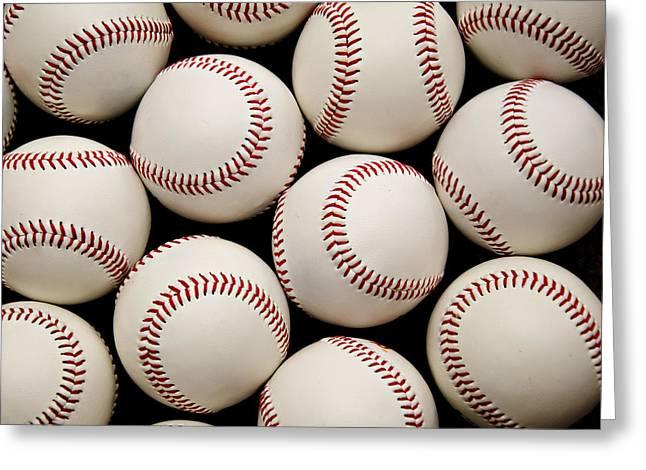 America Pastime Greeting Cards - Baseballs Greeting Card by Ricky Barnard