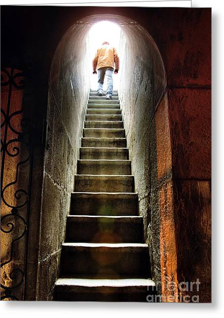 High Stepping Greeting Cards - Basement Exit Greeting Card by Carlos Caetano