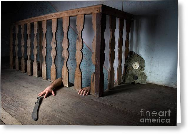 Basement Greeting Cards - Basement fear Greeting Card by Sinisa Botas