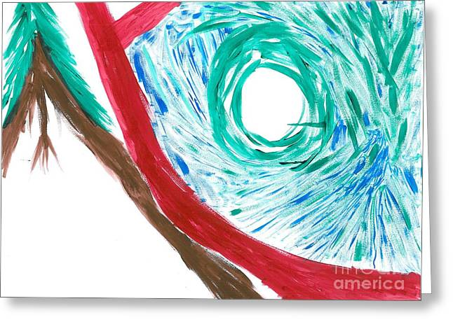 Portal Pastels Greeting Cards - Basic Simplistic portal Greeting Card by Jacques Retief