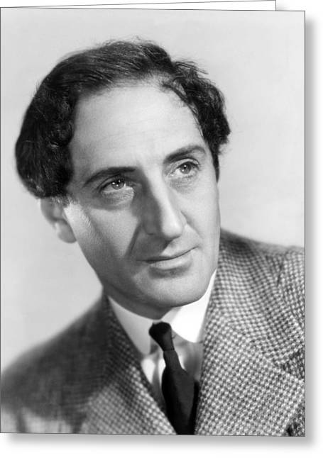 Basil Rathbone In The Adventures Of Sherlock Holmes  Greeting Card by Silver Screen