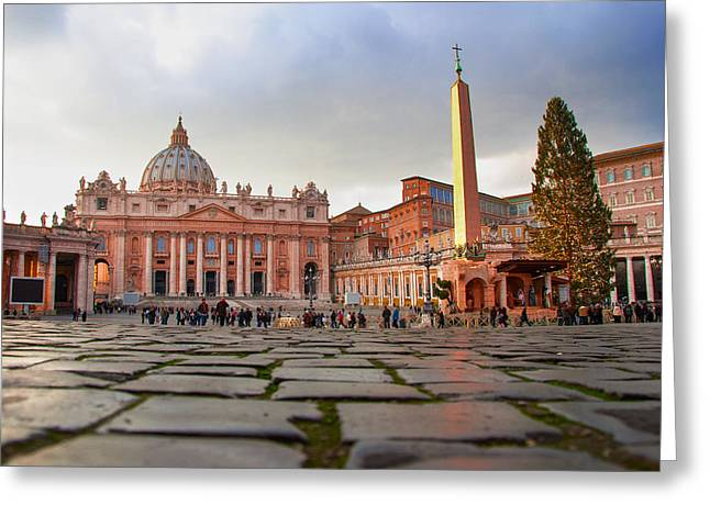 Old Street Greeting Cards - Basilica Greeting Card by Cliff Parker
