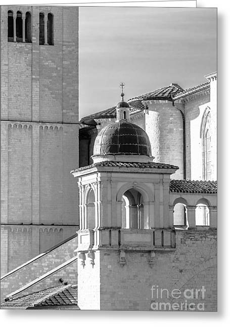 San Francesco Greeting Cards - Basilica Details Greeting Card by Prints of Italy