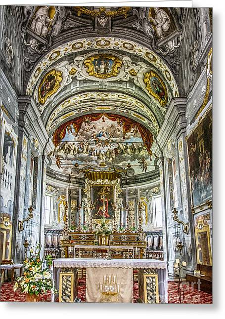 Holy Icons Greeting Cards - Basilica di San Giorgio fuori le mura Greeting Card by Traven Milovich