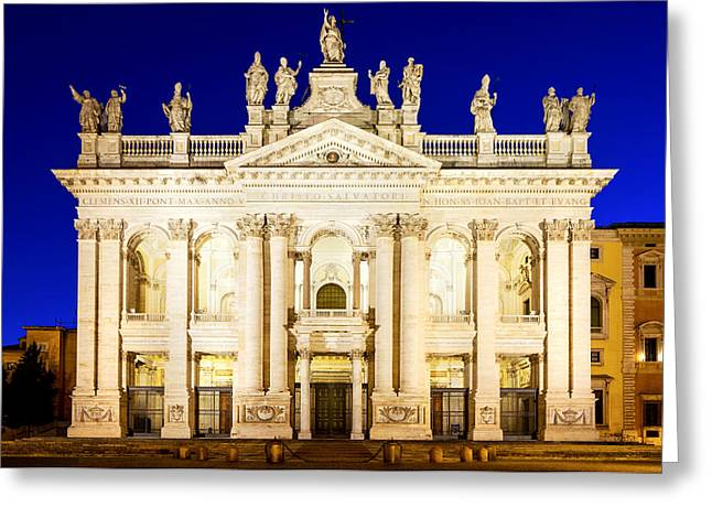 Lateran Greeting Cards - Basilica di San Giovanni in Laterano Greeting Card by Fabrizio Troiani