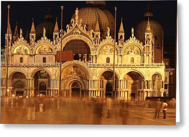 Basilica Di San Marco Greeting Card by George Buxbaum