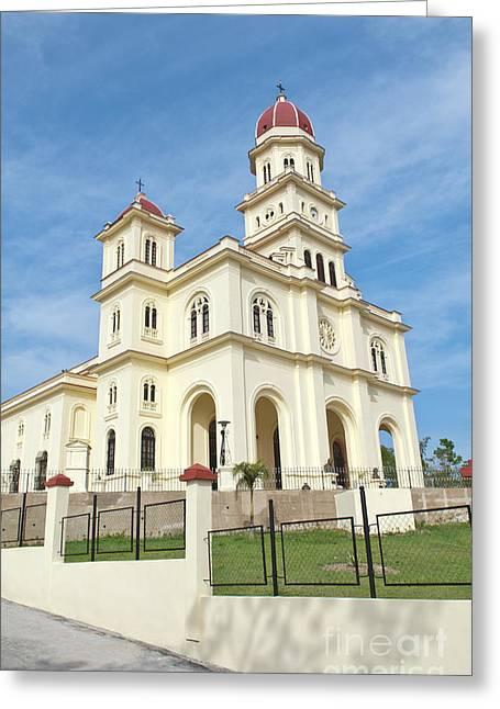 Santiago Cuba Greeting Cards - Basilica El Cabre Church, Santiago, Cuba Greeting Card by Bill Bachmann