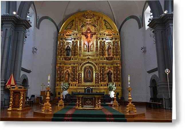 Basilica Mission Alter Greeting Card by Richard Jenkins