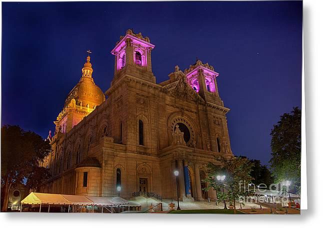 Moran Greeting Cards - Basilica of Saint Mary Minneapolis Greeting Card by Wayne Moran