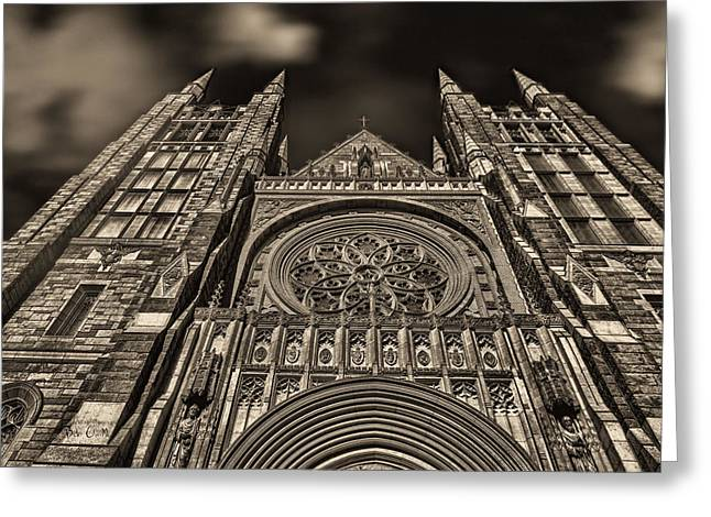 Basilica of Saints Peter and Paul  Greeting Card by Bob Orsillo
