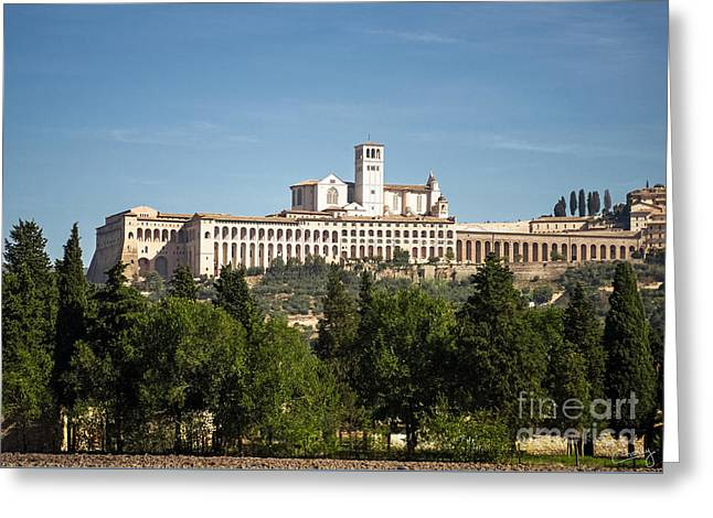 San Francesco Greeting Cards - Basilica of San Francesco dAssisi Greeting Card by Prints of Italy