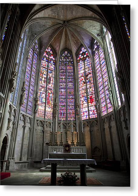 Oratory Greeting Cards - Basilica of St Nazaire and St Celse Greeting Card by Ruben Vicente