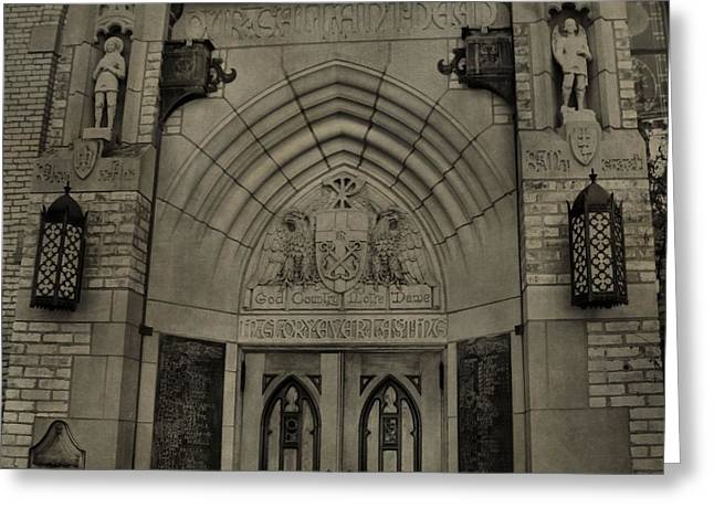 Scholarship Greeting Cards - Basilica of the Sacred Heart  Greeting Card by Dan Sproul