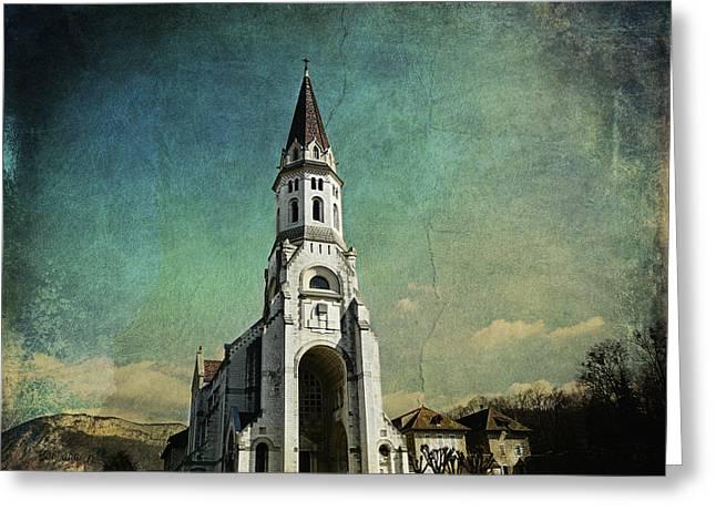 Francois Digital Greeting Cards - Basilica of the visitation Greeting Card by Barbara Orenya