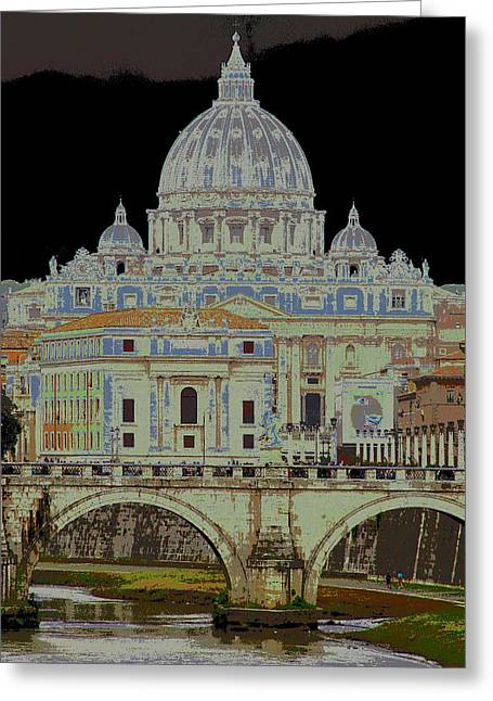 Basillica Greeting Cards - Basillica di San Pietro Greeting Card by Steve Decker
