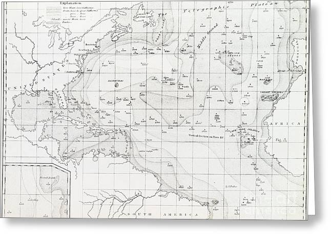 The Plateaus Greeting Cards - Basin Of The North Atlantic Ocean, 1854 Greeting Card by General Research Division
