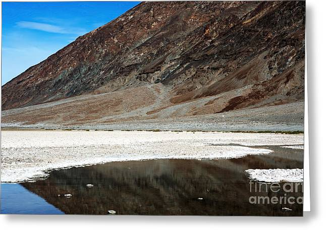 Death Of Waters Greeting Cards - Basin Reflection Greeting Card by John Rizzuto