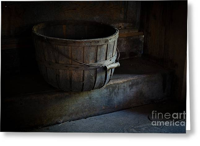 Basket At Olsons Greeting Card by Scott Thorp