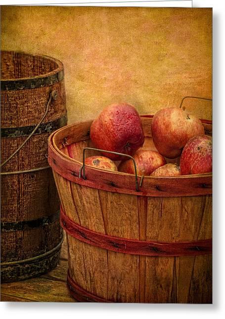 Robert Jensen Greeting Cards - Basket Of Apples Greeting Card by Robert Jensen