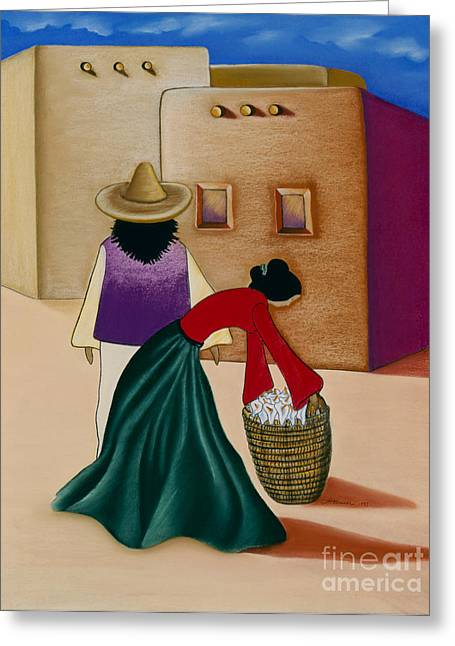 Calla Lily Pastels Greeting Cards - Basket Of Callas Greeting Card by Terri Hamner