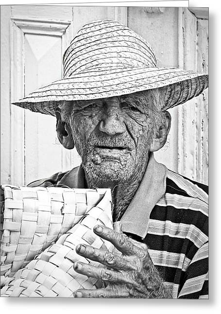 Cuba Greeting Cards - Basket Weaver Greeting Card by Dawn Currie