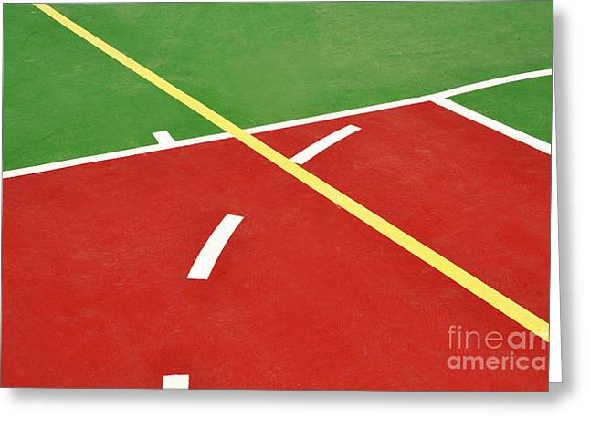 Basketball court Greeting Card by Luis Alvarenga