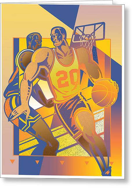 Basketballs Greeting Cards - Basketball Greeting Card by David Chestnutt