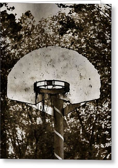 Basketballs Greeting Cards - Basketball Goal Greeting Card by A R Williams