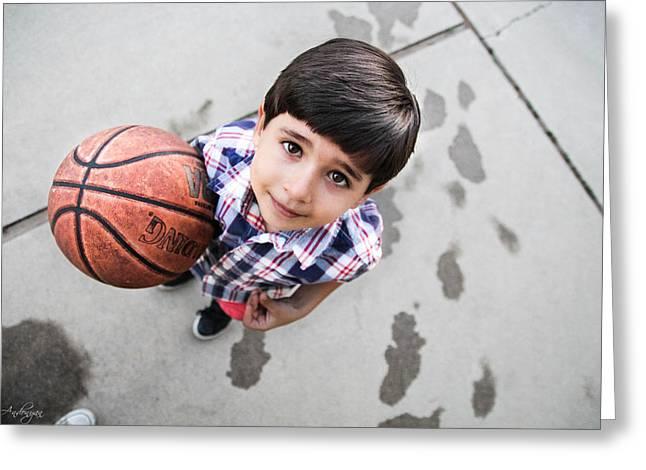 Espn Greeting Cards - Basketball Guy Greeting Card by Serdar Andonyan