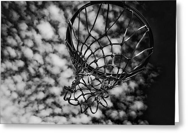 Basketball Abstract Greeting Cards - Basketball Heaven Greeting Card by Karol  Livote