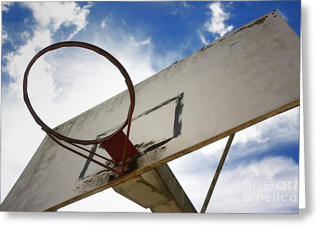 Backboards Greeting Cards - Basketball hoop Greeting Card by Bernard Jaubert