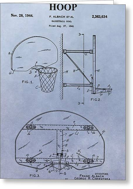 Basketball Digital Art Greeting Cards - Basketball Hoop Greeting Card by Dan Sproul