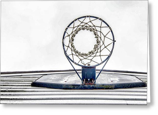 Basket Ball Game Greeting Cards - Basketball Hoop Greeting Card by Sharon Meyer