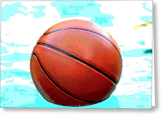 Basket Ball Game Greeting Cards - Basketball in pool Greeting Card by Tammy Abrego