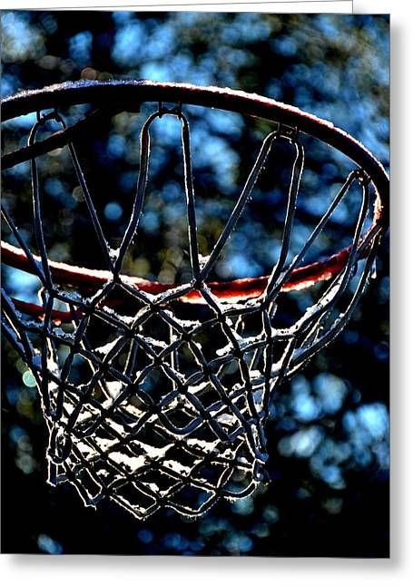 Basket Ball Greeting Cards - Basketball Greeting Card by Janice Herley