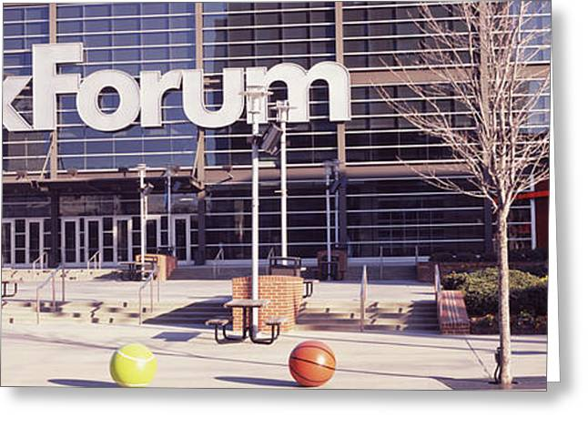 Basketballs Greeting Cards - Basketball Stadium In The City, Fedex Greeting Card by Panoramic Images
