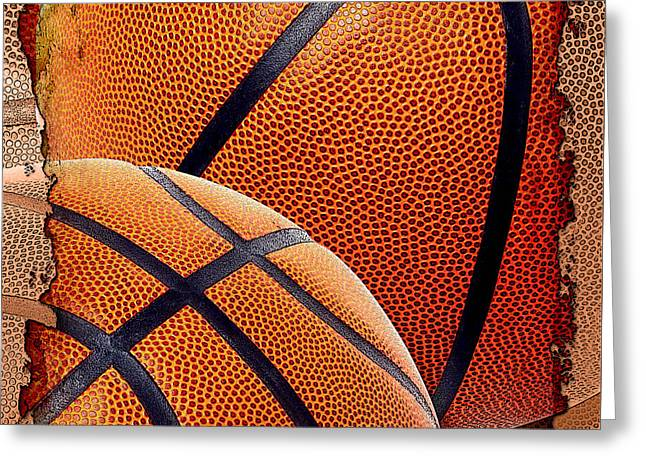 Basketball Abstract Greeting Cards - Basketballs  Greeting Card by David G Paul