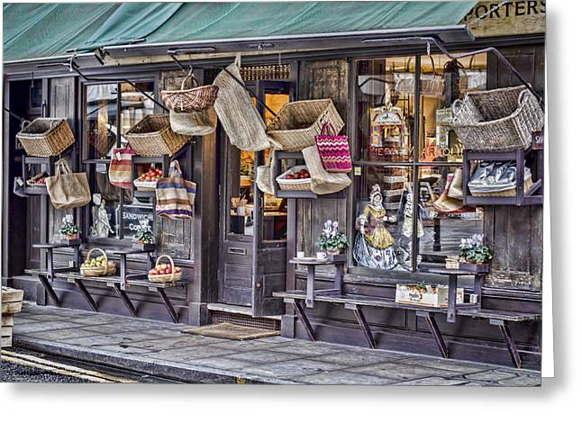 Historic Country Store Greeting Cards - Baskets For Sale Greeting Card by Heather Applegate