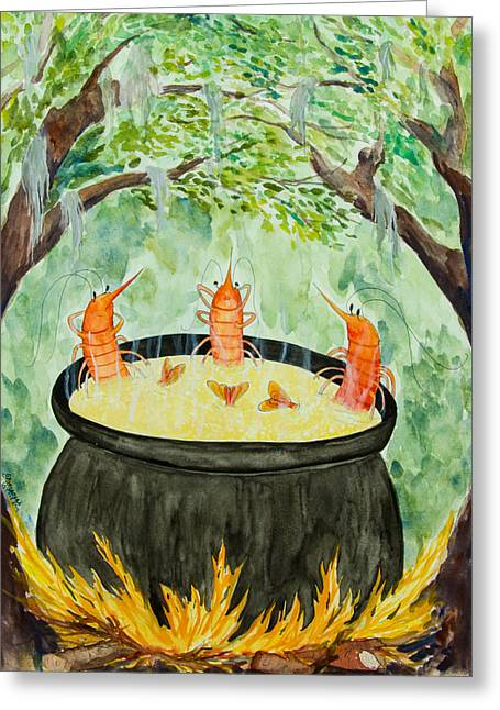 Recently Sold -  - Moss Greeting Cards - Basking in the Glow of the Grits Greeting Card by Alexandra Nicole Newton