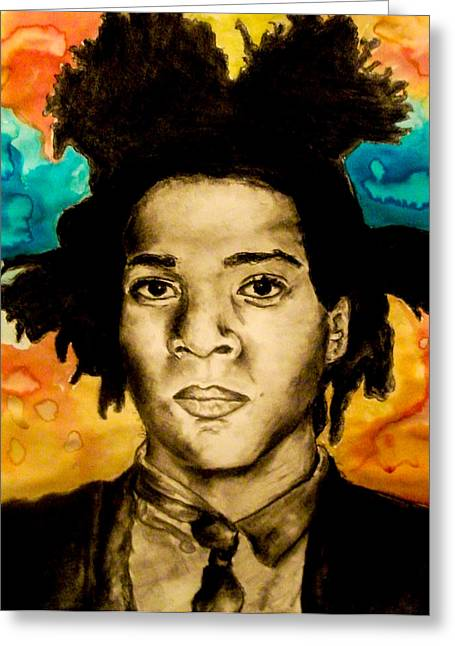Basquiat Drawings Greeting Cards - Basquiat Greeting Card by Ashley Henry