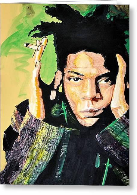 Aerosol Greeting Cards - Basquiat Greeting Card by dreXeL
