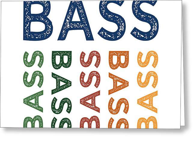 Bass Cute Colorful Greeting Card by Flo Karp