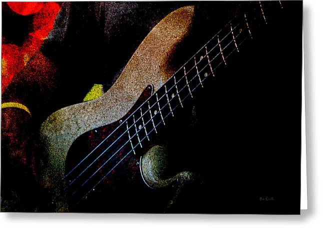Bass Guitar Greeting Card by Bob Orsillo