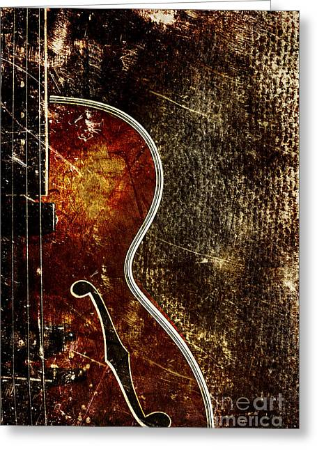 Intruments Greeting Cards - Bass guitar Greeting Card by Jana Behr