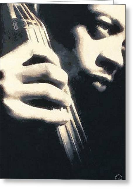 Bass Player Greeting Cards - Bass Greeting Card by Gun Legler