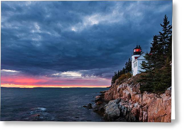 Bass Head Light Greeting Cards - Bass Harbor Attitude Greeting Card by Michael Blanchette
