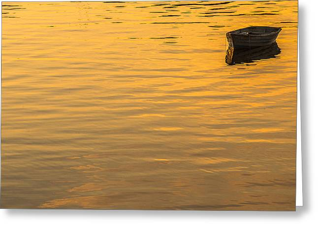 Dinghy Greeting Cards - Bass Harbor Dinghy Greeting Card by Joseph Rossbach