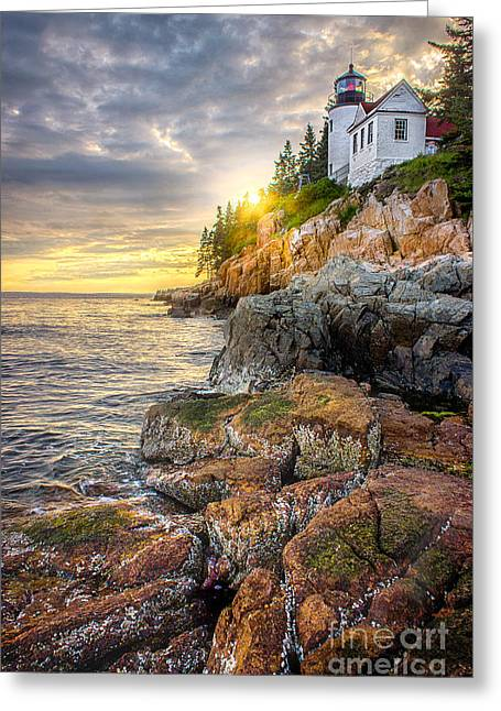 Bass Head Lighthouse Greeting Cards - Bass Harbor Head Light Greeting Card by Benjamin Williamson